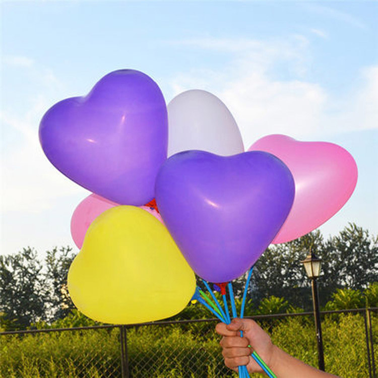 10 inch 2.2g pure pearl heart shape latex balloons