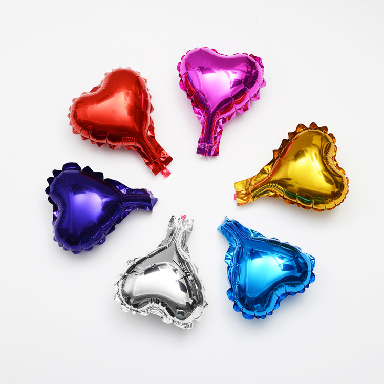5 inch pure color heart shape party decoration helium balloons