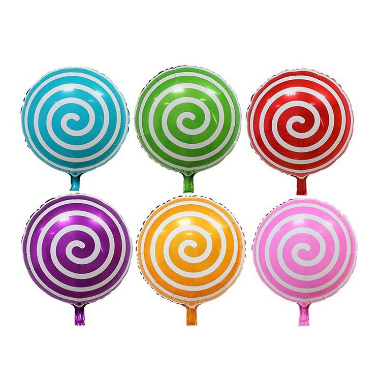 18inch Party decoration candy lollipop shape mylar balloons