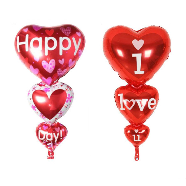size100x50cm connected heart shape balloon
