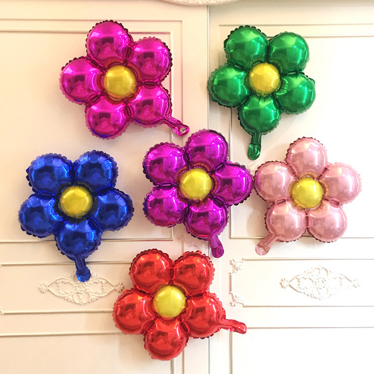 size45x45cm five petals flower shape helium balloon