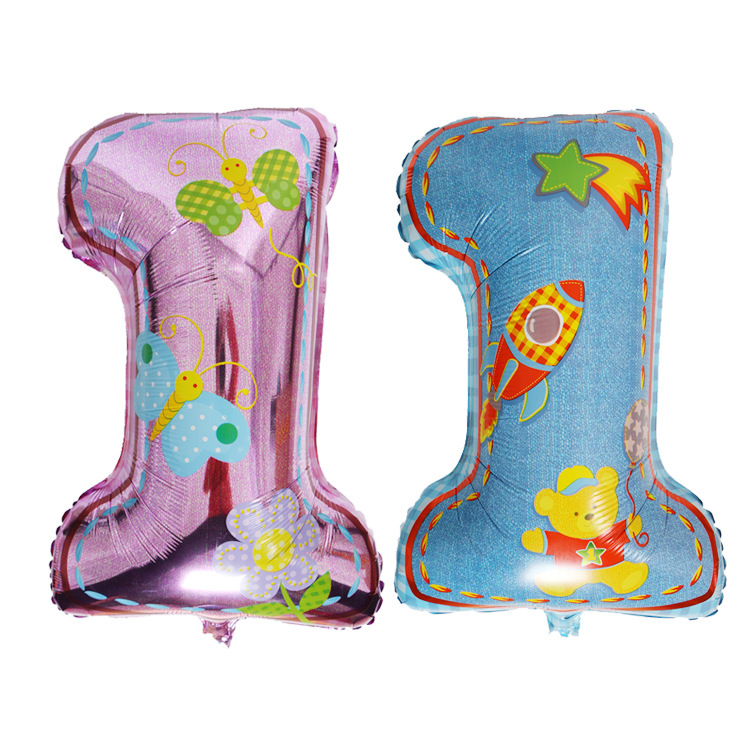 size75x44cm number 1 foil balloon for birthday party decoration