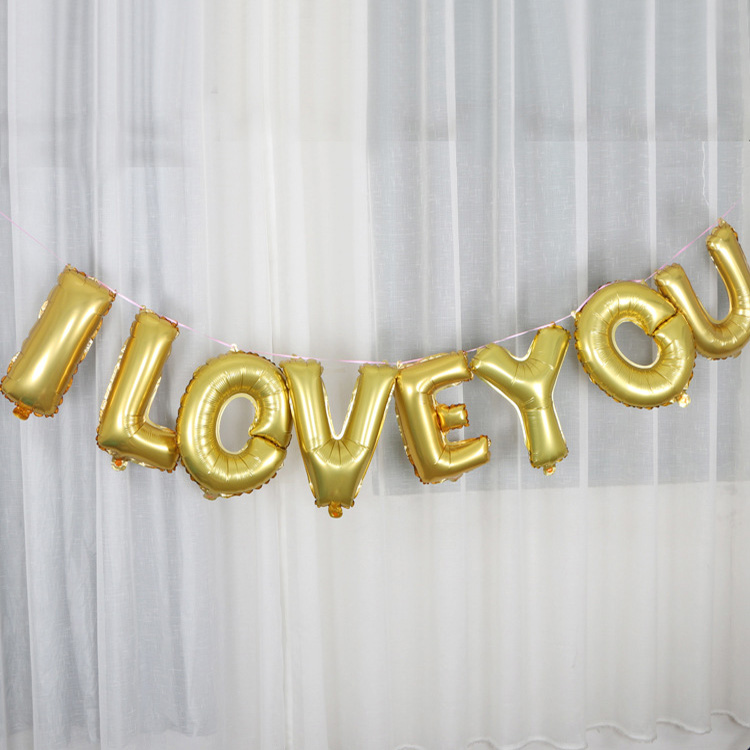 16 inch new design letter foil balloons with holes