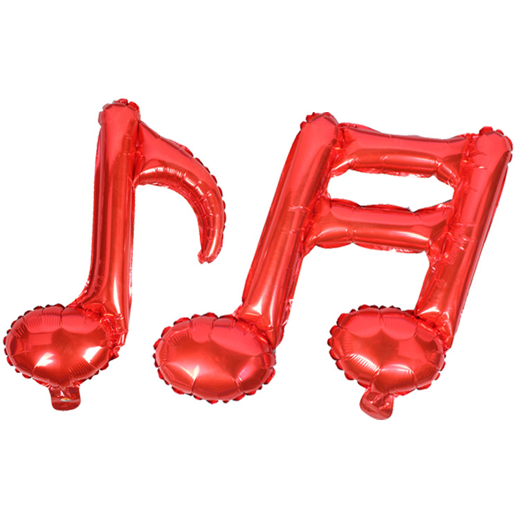 size50x45cm inflatable 16 note music shape mylar foil balloon