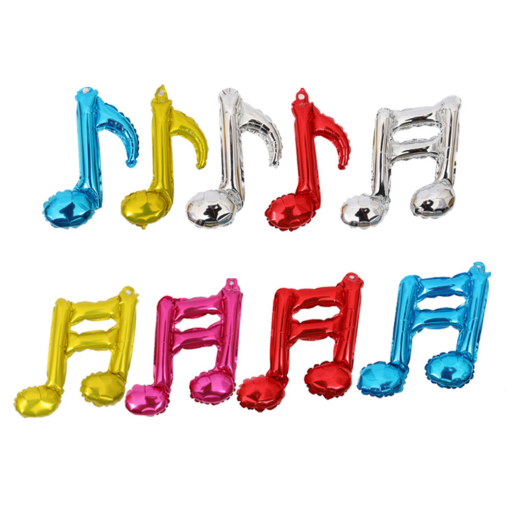 New arrival musical notes quaver helium foil balloon
