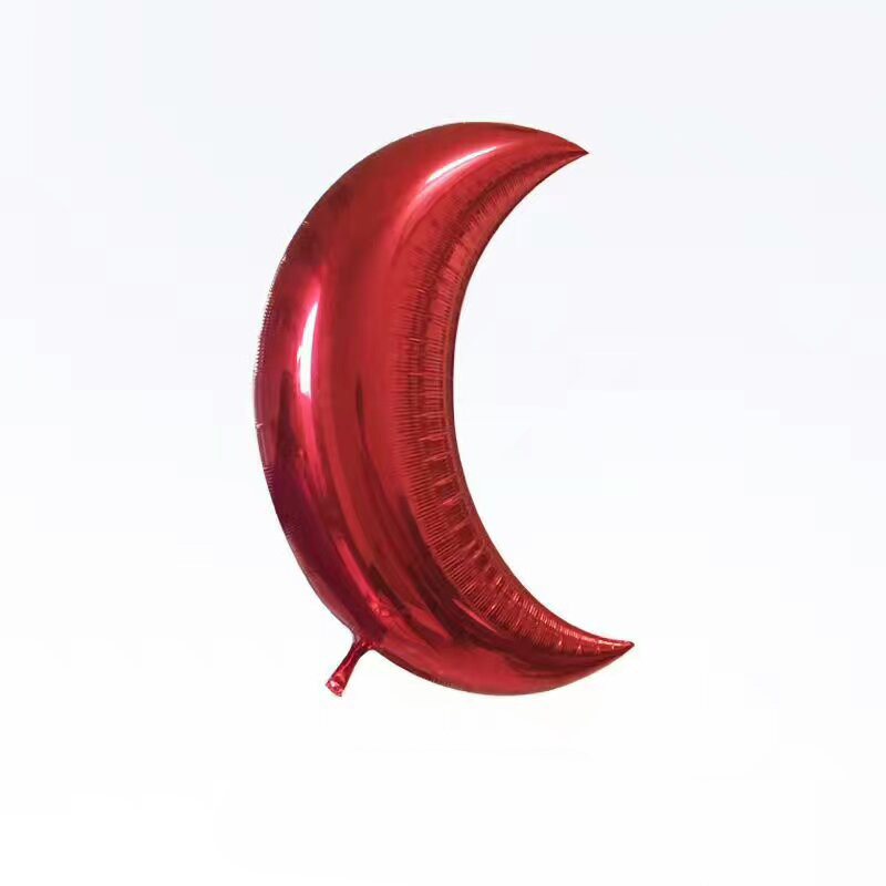 Red Moon shape foil balloons for party decoration