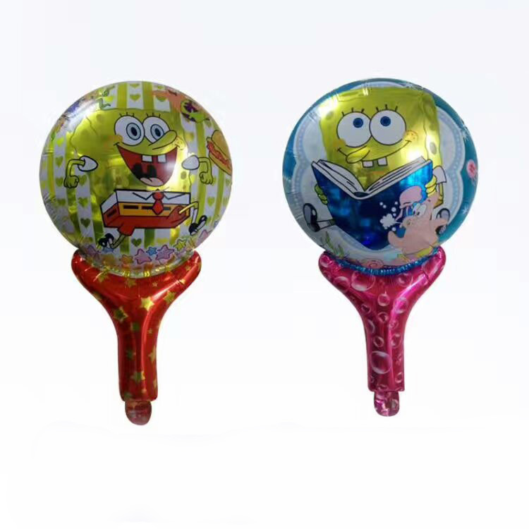 size28x48cm cartoon SpongeBob holder stick printing balloons