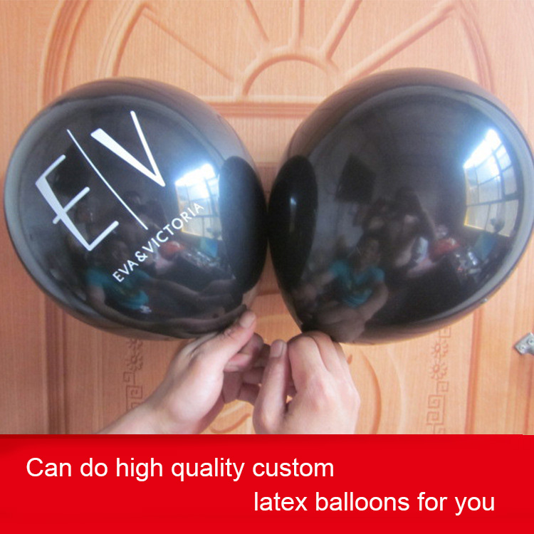 "10"" one side one color printed custom latex balloon printing"