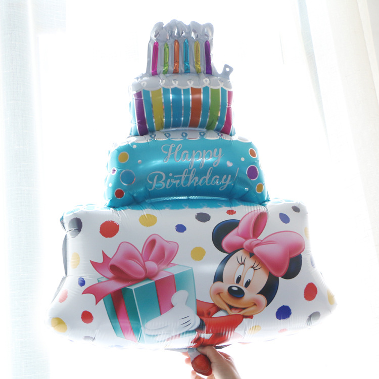 Big Size Mickey Mouse Happy Birthday Printed Foil Cake Balloon Fds