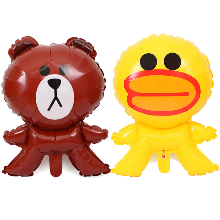 Medium size Line Sally duck and brown bear helium foil balloon