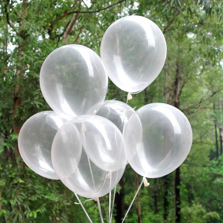 Transparent clear latex balloon for birthday part supplies