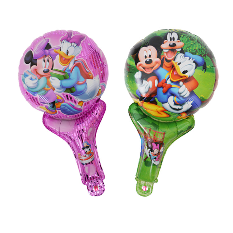 Air inflatable mylar Donald Duck cheering clap stick balloon
