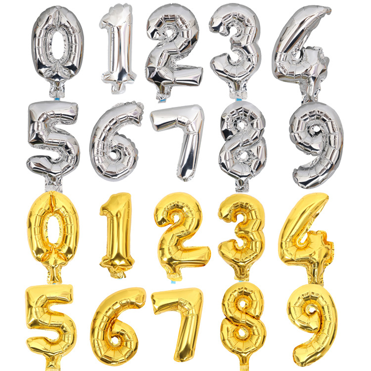 8 inch small mylar number balloons for party event