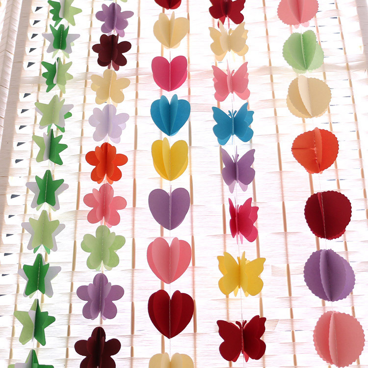 Balloon rope Paper garland for Wedding Party Decorations