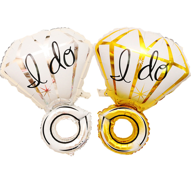 I DO diamond ring helium foil balloons for Valentine's Day