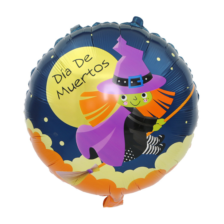 Halloween decoration 18 inch round pumpkin foil balloons