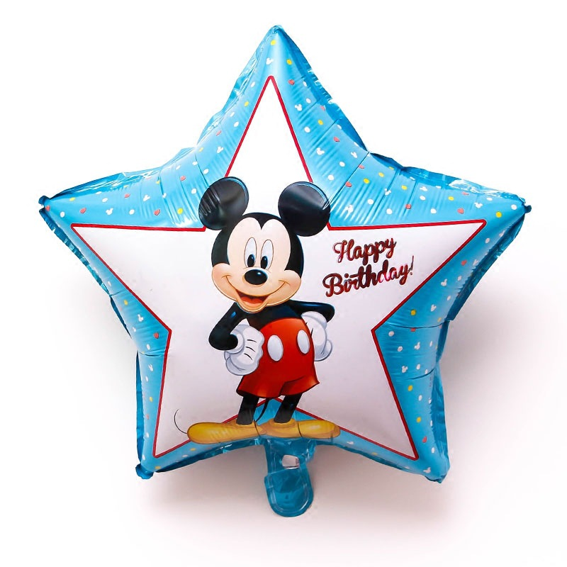 Happy Birthday decoration Mickey star shape foil balloons