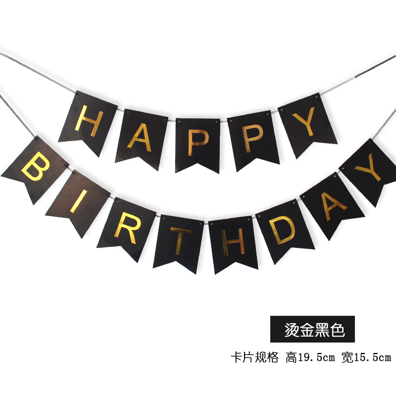 Happy birthday Hanging Paper Flag Bunting Banner