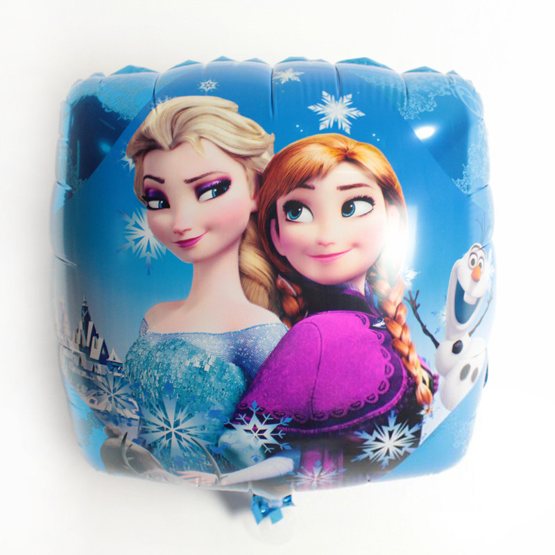 18 inch cartoon character square Frozen foil balloons
