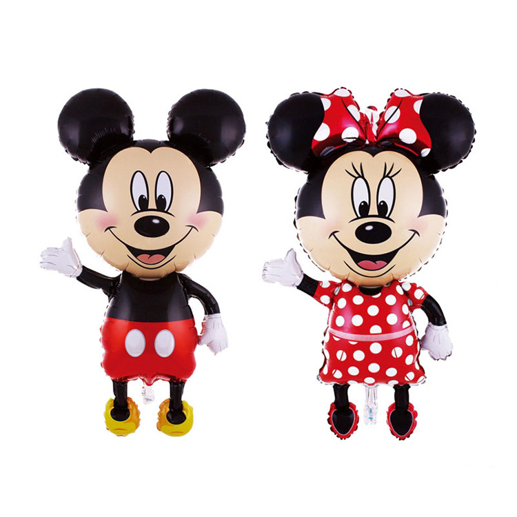 1.2 meter high standing Mickey helium foil balloons