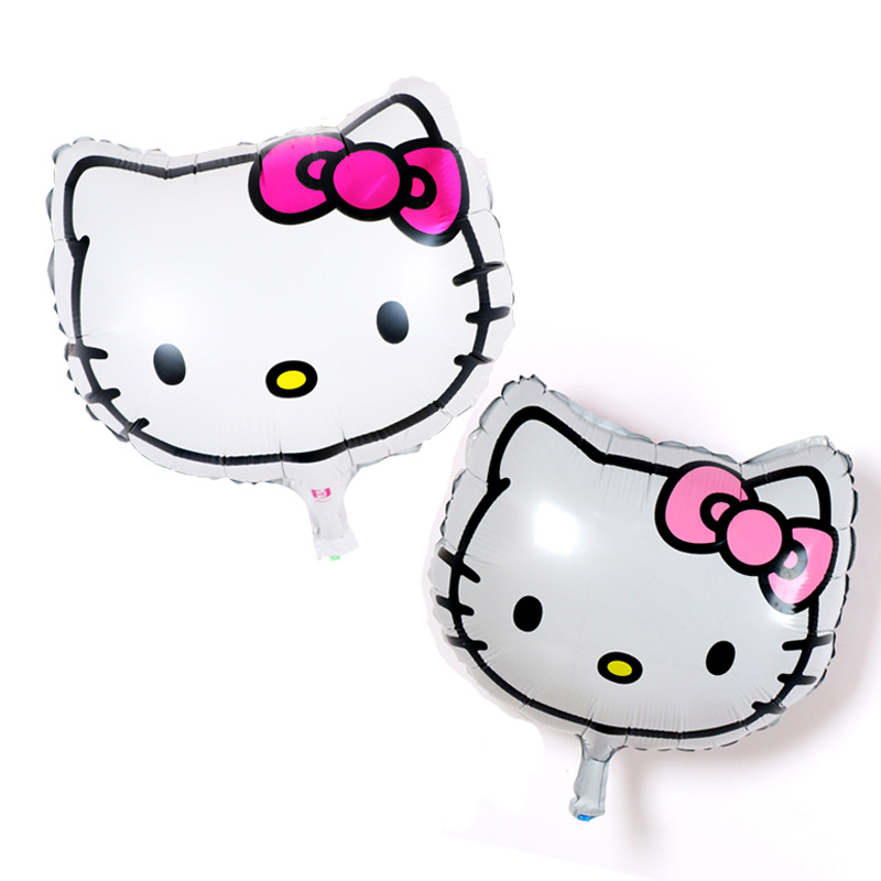 Cartoon Hello Kitty Head Foil balloons