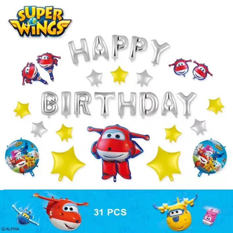Superwings Happy Birthday foil balloons
