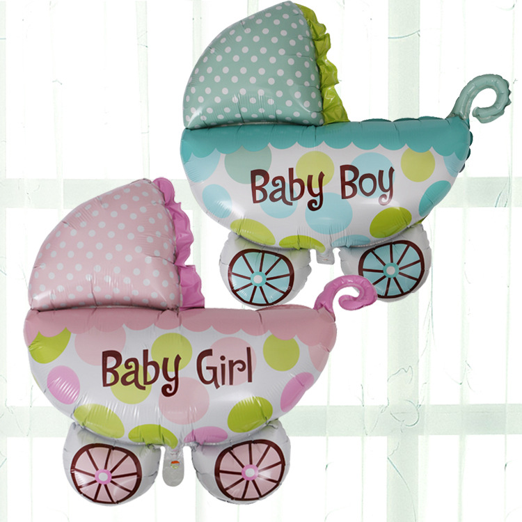 Baby Shower decoration baby carriage foil balloons