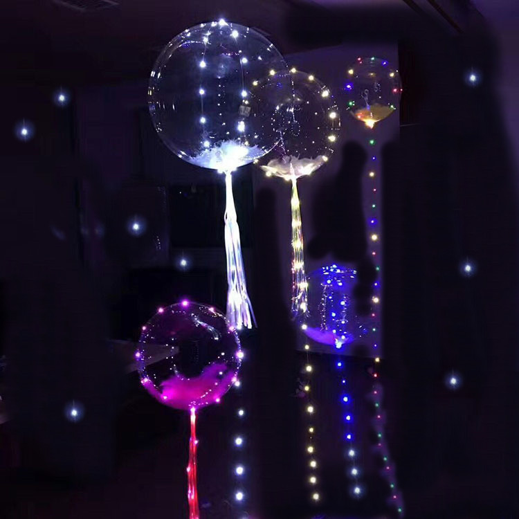 18 24 36 inch no wrinkle round transparent fantasy show party decorations TPU foil bubble wedding balloons