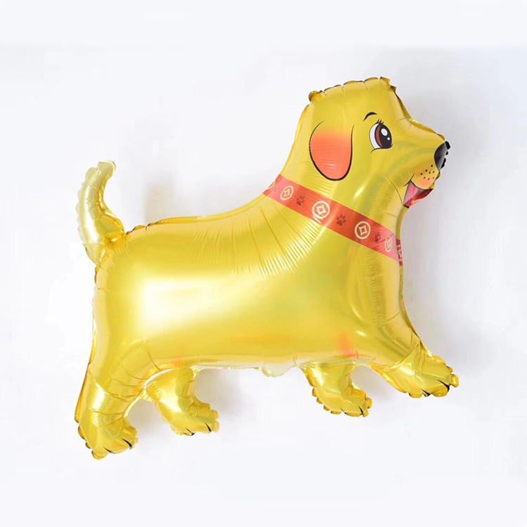 Birthday gift gold animal dog foil balloons