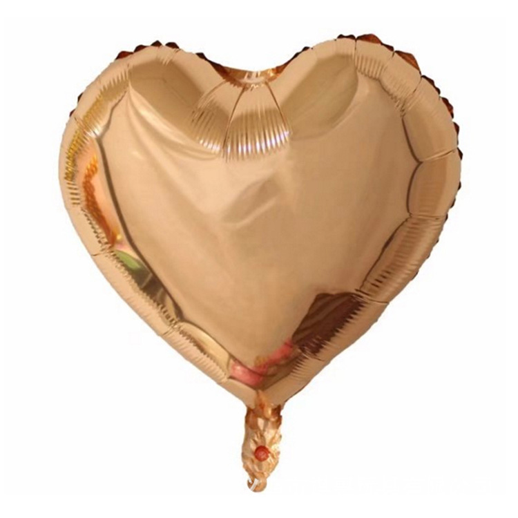 18 in rose gold helium heart shaped mylar balloons