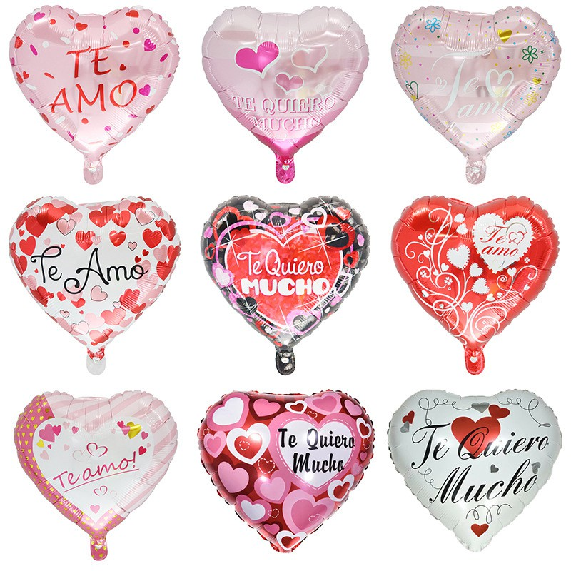 I Love you heart helium mylar balloons