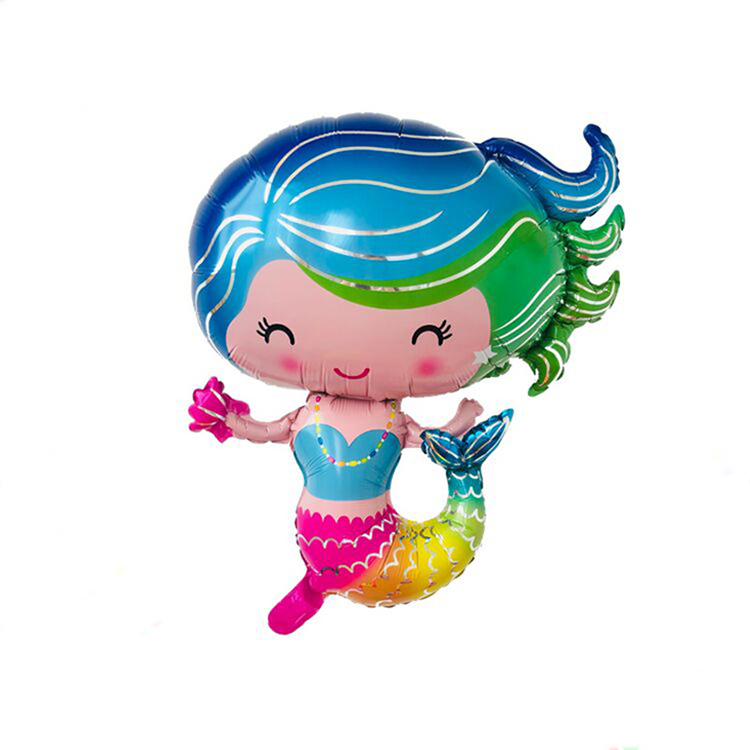 Cartoon character mylar mermaid balloons