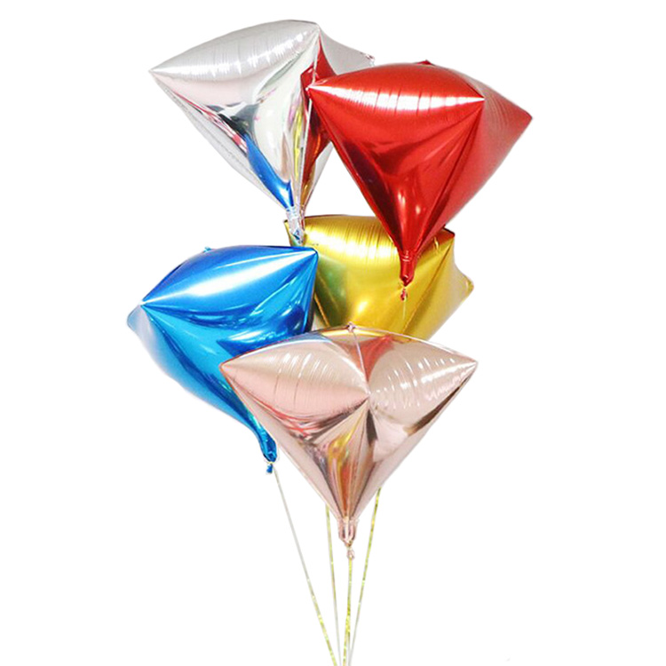 24 inch diamond shaped helium foil balloons