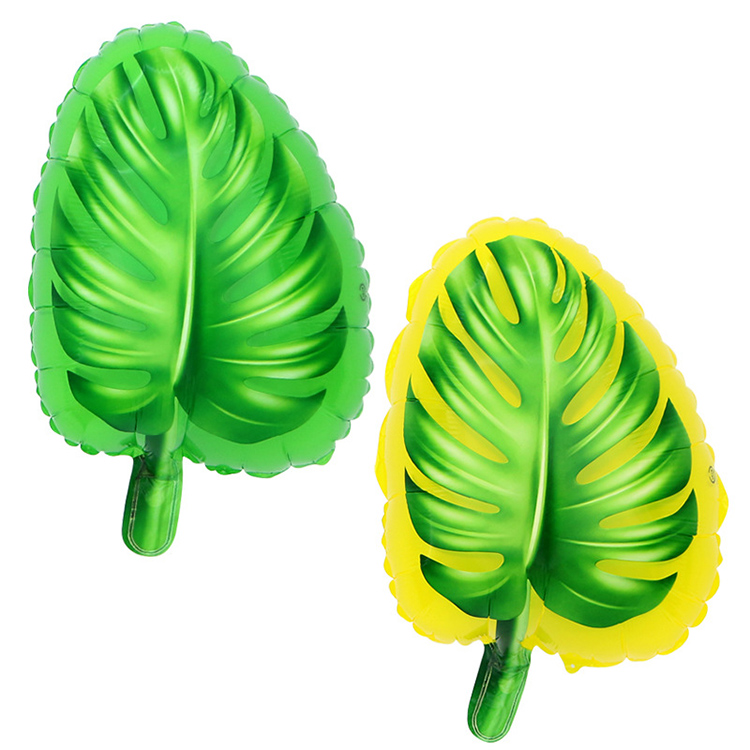 18 inch green leaf foil balloons