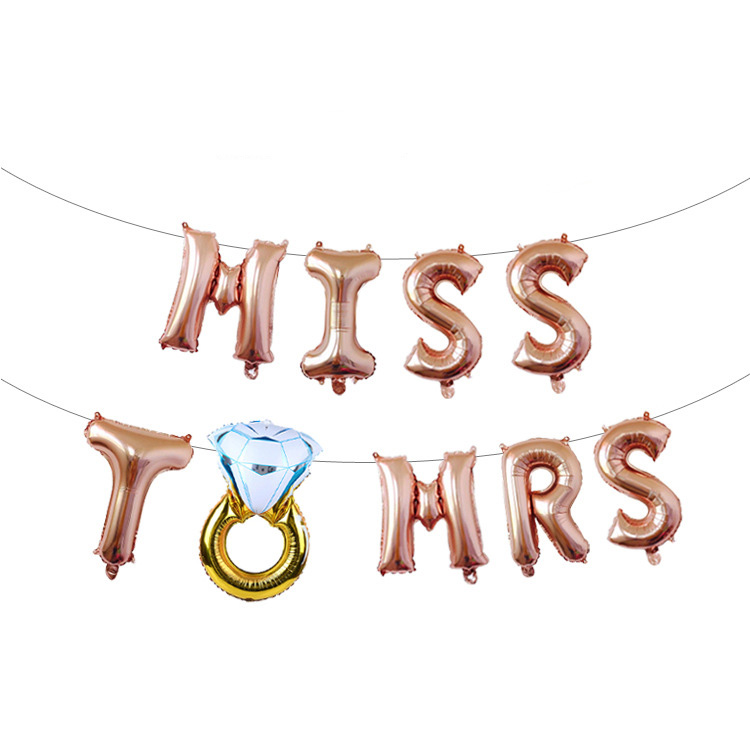 Balloon Set Miss To Mrs