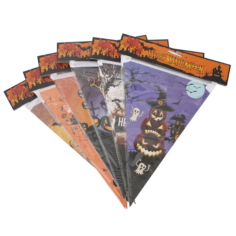 Halloween Design Triangle Shape Paper Flag