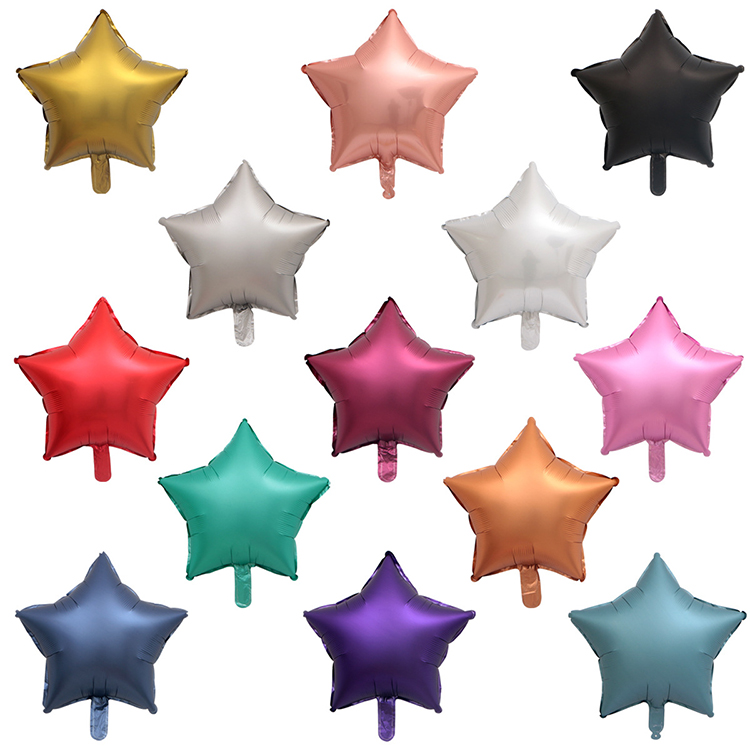 18 Inch Foil Star Chrome Balloons