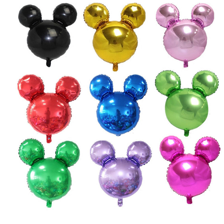 Plain Mickey Head Shape Mylar Balloon