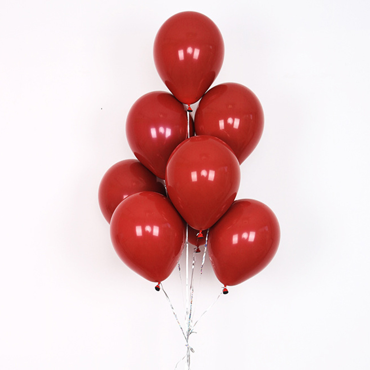 10 Inch Round Garnet Red Latex Balloon