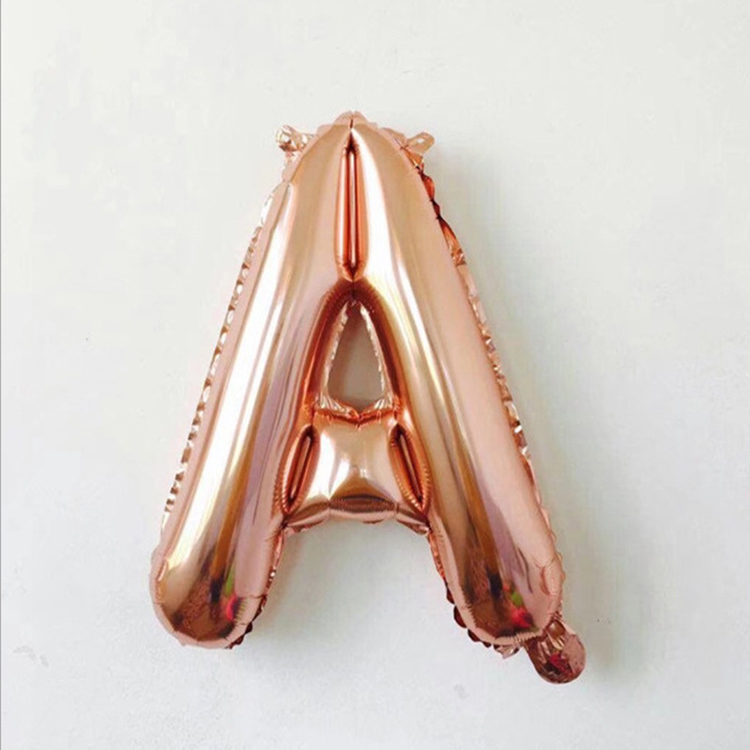 40 Inch Rose Gold Foil Letter Balloon