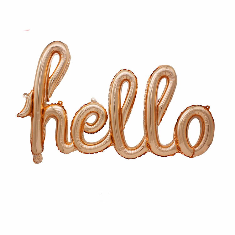 Large Foil Script Hello Balloon