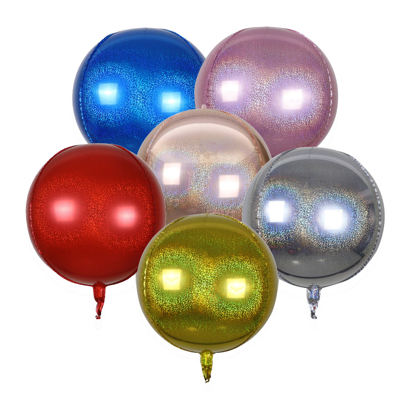 22 Inch 4D Round Disco Colorful Ball US Anagram Foil Balloon