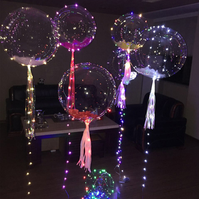 Party bubble balloons decoration waterproof led copper